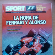 Collectionnisme sportif: GUIA SPORT MUNDIAL FORMULA 1 AÑO 2012 - LA HORA DE FERRARI Y FERNANDO ALONSO - F1 12. Lote 31085673