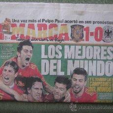 Coleccionismo deportivo: DIARIO MARCA ,8 DE JULIO DE 2008,ESPAÑA 1 ALEMANIA 0,SEMIFINAL CAMPEONATO DEL MUNDO DE 2010. Lote 31109282