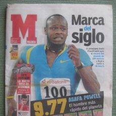Coleccionismo deportivo: DIARIO MARCA ,15 DE JULIO DE 2005,RECORD DEL MUNDO DE 100 METRO LIBRES,ASAFA POWELL. Lote 31109398