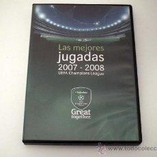 Coleccionismo deportivo: DVD UEFA CHAMPIONS LEAGUE.LAS MEJORES JUGADAS 2007-08. Lote 31213690