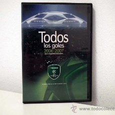Coleccionismo deportivo: DVD UEFA CHAMPIONS LEAGUE. TODOS LOS GOLES 2006-07. Lote 31213725