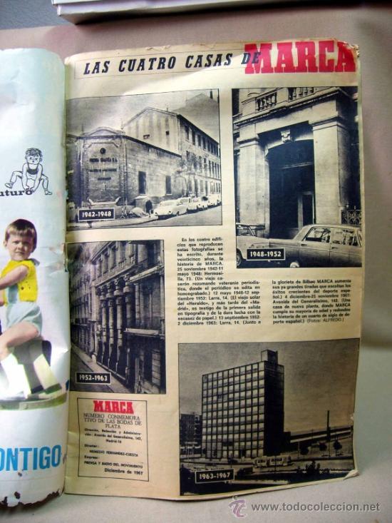 Coleccionismo deportivo: REVISTA, DIARIO, MARCA, 1942-1967, NUMERO CONMEMORATIVO DE LAS BODAS DE PLATA - Foto 4 - 31239179