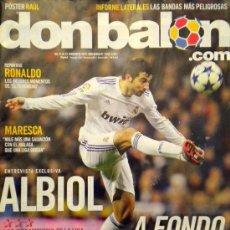 Coleccionismo deportivo: DON BALON 1843 POSTER RAUL GONZALEZ REAL MADRID REPORTAJE RONALDO ALBIOL. Lote 31373172