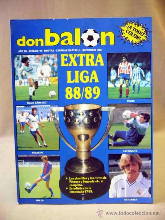 REVISTA DEPORTIVA, FUTBOL, DON BALON, EXTRA LIGA 88 - 89, Nº 16 (Coleccionismo Deportivo - Revistas y Periódicos - Don Balón)