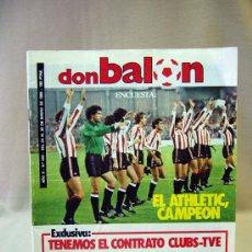 Coleccionismo deportivo: REVISTA DEPORTIVA, FUTBOL, DON BALON, Nº 433, ENCUESTA, ATLETIC CAMPEON, 1994. Lote 31377399