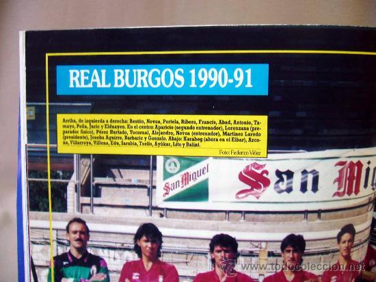 Coleccionismo deportivo: REVISTA DEPORTIVA, FUTBOL, DON BALON, Nº 808, EL BARÇA A POR MANOLO, 1991, POSTER REAL BURGOS - Foto 3 - 31377362