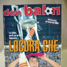 Coleccionismo deportivo: REVISTA DEPORTIVA, DON BALON, AÑO XXV, Nº 1237, 1999, POSTER DEL CAMPEON DE COPA EL VALENCIA. Lote 31600275