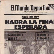 Coleccionismo deportivo: EL MUNDO DEPORTIVO 22-10-1983. Lote 31610850