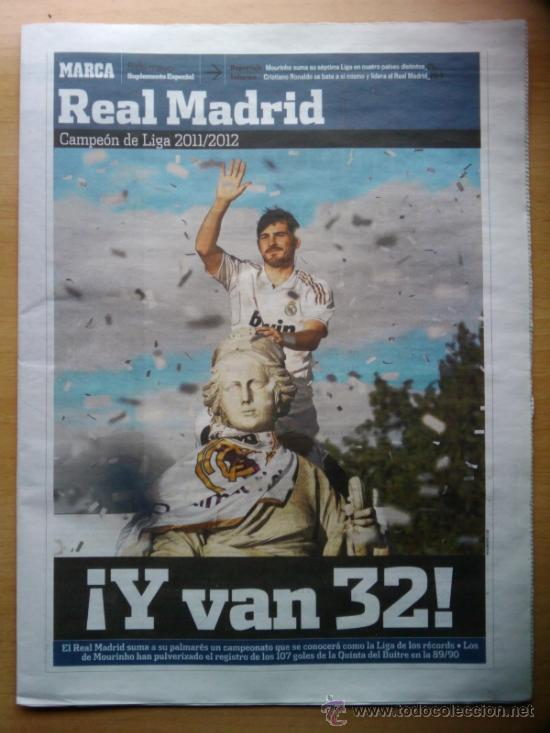 DIARIO MARCA - SUPLEMENTO ESPECIAL REAL MADRID CAMPEON DE LA LIGA 2011-2012 -EXTRA 11 12 - (Coleccionismo Deportivo - Revistas y Periódicos - Marca)