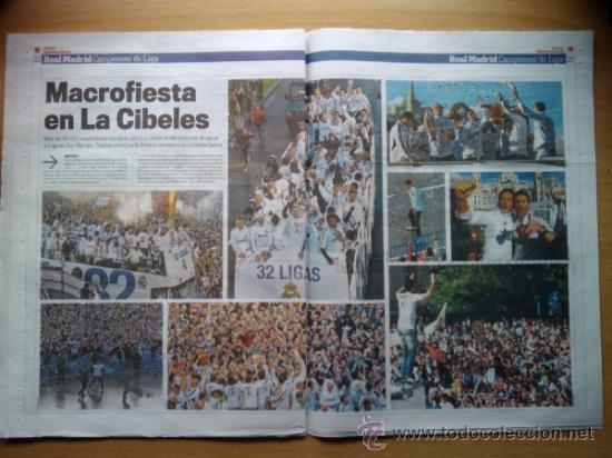 Coleccionismo deportivo: DIARIO MARCA - SUPLEMENTO ESPECIAL REAL MADRID CAMPEON DE LA LIGA 2011-2012 -EXTRA 11 12 - - Foto 2 - 31642300