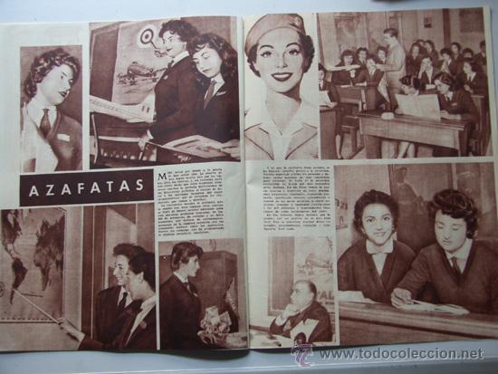 Coleccionismo deportivo: SENDA / REVISTA PARA LA MUJER / AÑO 1954 N.7 / TIERRA SANTA / VACACIONES ROMANAS/ AZAFATAS - Foto 4 - 31695627