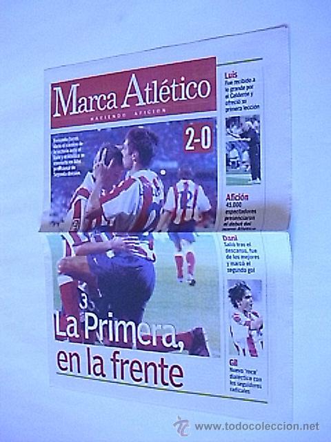 SUPLEMENTO PERIODICO MARCA ATLETICO (26 AGOSTO 2001) (Coleccionismo Deportivo - Revistas y Periódicos - Marca)