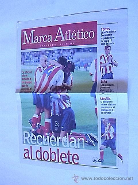SUPLEMENTO PERIODICO MARCA ATLETICO (27 AGOSTO 2001) (Coleccionismo Deportivo - Revistas y Periódicos - Marca)
