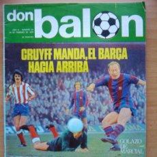 Coleccionismo deportivo: DON BALON Nº 21 - FEBRERO 1976 - CRUYFF MANDA - EL BARÇA HACIA ARRIBA UD LAS PALMAS - CAMACHO MORETE. Lote 31902534