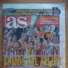 Coleccionismo deportivo: DIARIO AS - ATLETICO DE MADRID CAMPEON DE LA EUROPA LEAGUE 2011-2012 - ESTAMBUL 11 12 - . Lote 31905956