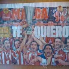 Coleccionismo deportivo: DIARIO MARCA - ATLETICO DE MADRID CAMPEON DE LA EUROPA LEAGUE 2011-2012 - ESTAMBUL 11 12 -. Lote 31905962