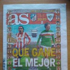 Coleccionismo deportivo: DIARIO AS - PREVIA FINAL ATLETICO DE MADRID CAMPEON DE LA EUROPA LEAGUE 2011-2012 ATHLETIC . Lote 34139524