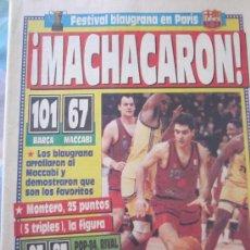 Coleccionismo deportivo: PERIODICO SPORT 17 ABRIL 1991,SEMIFINAL FINAL FOUR DE PARIS F.C.BARCELONA BASKET. Lote 136027366