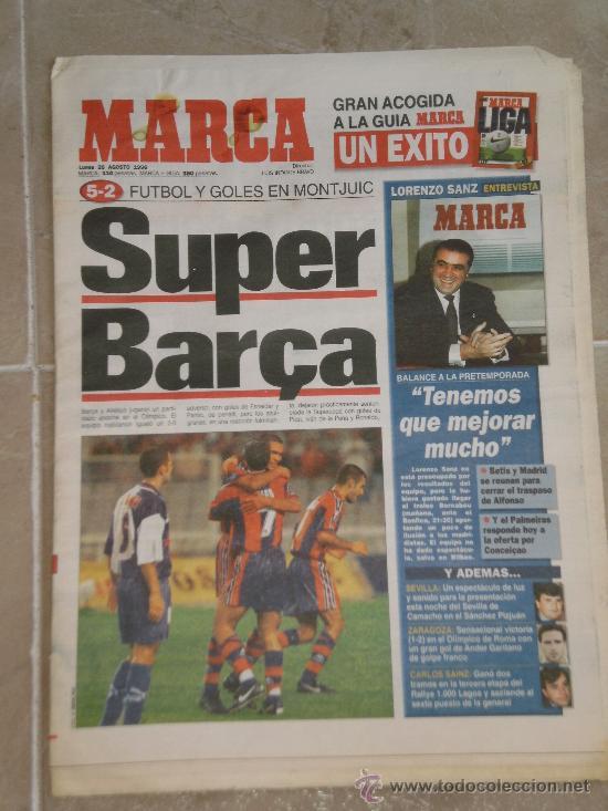 PERIODICO MARCA , 26 DE AGOSTO 1996 . (Coleccionismo Deportivo - Revistas y Periódicos - Marca)