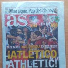Coleccionismo deportivo: DIARIO AS - ATLETICO DE MADRID ATHLETIC CLUB SEMIFINALES EUROPA LEAGUE 2011-2012 . Lote 32291593