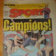 Coleccionismo deportivo - PERIODICO FUTBOL SPORT N 5957 3 JUNIO 1996 BARCA BASKET SCHUMACHER - 32326919