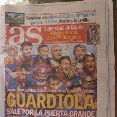 Colecionismo desportivo: GUARDIOLA POR LA PUERTA GRANDE-FINAL COPA REY 2012-ATHLETIC-0-F.C.BARCELONA-3.. Lote 32366226