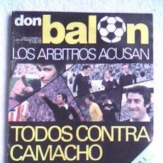 Coleccionismo deportivo: REVISTA DON BALON Nº 51 1976 - LOS ARBITROS ACUSAN. Lote 32451047
