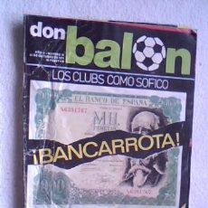 Coleccionismo deportivo: REVISTA DON BALON Nº 55 1976 - TODO SOBRE JUANITO. Lote 32451281