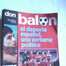 Coleccionismo deportivo: REVISTA DON BALON Nº 35 - 1976 - . Lote 32452405