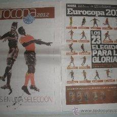 Coleccionismo deportivo: 2 SUPLEMENTOS DIARIO MARCA EUROCOPA 2012 SELECCION ESPAÑOLA+REGALO. Lote 32454008