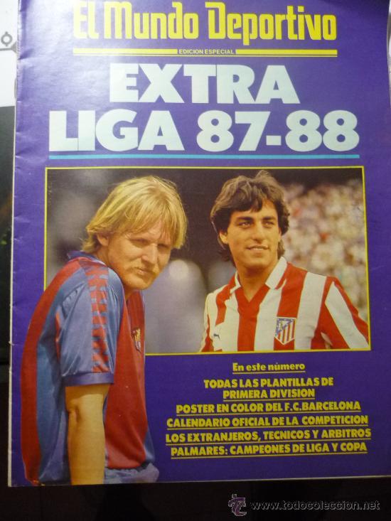 EXTRA LIGA 87-88 (Coleccionismo Deportivo - Revistas y Periódicos - Mundo Deportivo)
