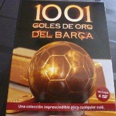 Coleccionismo deportivo: DVD FÚTBOL- 1001 GOLES DE ORO DEL BARÇA.-4 DVD ´S.VER FOTOS. Lote 44763974