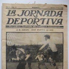 Coleccionismo deportivo: LA JORNADA DEPORTIVA - Nº 108 -