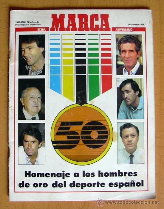 MARCA EXTRA 50 ANIVERSARIO - HOMENAJE A LOS HOMBRES DE ORO DEL DEPORTE ESPAÑOL (Coleccionismo Deportivo - Revistas y Periódicos - Marca)