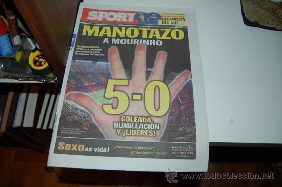 BARÇA 5-REAL MADRID 0. SPORT, 30 DE NOVIEMBRE DE 2010 (Coleccionismo Deportivo - Revistas y Periódicos - Sport)