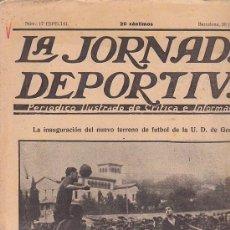 Coleccionismo deportivo: REVISTA JORNADA DEPORTIVA 30 JUNIO 1922. Lote 144928456