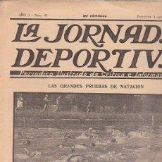 Coleccionismo deportivo: REVISTA JORNADA DEPORTIVA 4 AGOSTO 1922. Lote 32944982