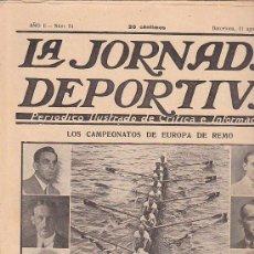 Coleccionismo deportivo: REVISTA JORNADA DEPORTIVA 11 AGOSTO 1922. Lote 32945024