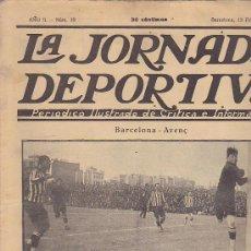 Coleccionismo deportivo: REVISTA JORNADA DEPORTIVA 13 FEBRERO 1922. Lote 32945038