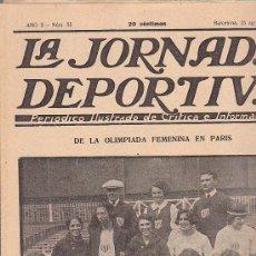 Coleccionismo deportivo: REVISTA JORNADA DEPORTIVA 25 AGOSTO 1922. Lote 32945043