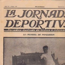 Coleccionismo deportivo: REVISTA JORNADA DEPORTIVA 15 ENERO 1923. Lote 32945057