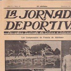 Coleccionismo deportivo: REVISTA JORNADA DEPORTIVA 21 JULIO 1922. Lote 32945098