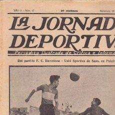 Coleccionismo deportivo: REVISTA JORNADA DEPORTIVA 28 JULIO 1922. Lote 32945139