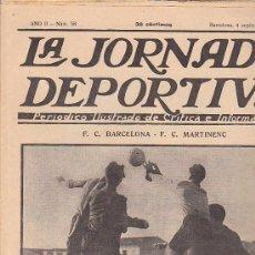Coleccionismo deportivo: REVISTA JORNADA DEPORTIVA 4 SEPTIEMBRE 1922. Lote 32945190
