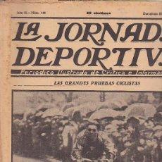 Coleccionismo deportivo: REVISTA JORNADA DEPORTIVA 28 ABRIL 1923. Lote 32945209