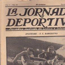 Coleccionismo deportivo: REVISTA JORNADA DEPORTIVA 5 ENERO 1923. Lote 32945217
