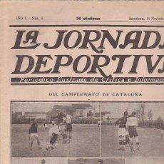Collezionismo sportivo: REVISTA JORNADA DEPORTIVA 14 NOVIEMBRE 1921. Lote 32945227