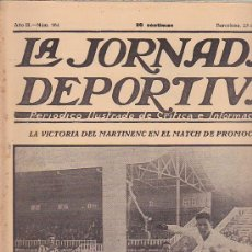 Coleccionismo deportivo: REVISTA JORNADA DEPORTIVA 25 JUNIO 1923. Lote 32945238