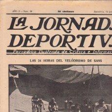 Coleccionismo deportivo: REVISTA JORNADA DEPORTIVA 19 JUNIO 1922. Lote 32945246