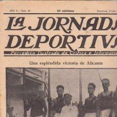 Coleccionismo deportivo: REVISTA JORNADA DEPORTIVA 3 JULIO 1922. Lote 32945330